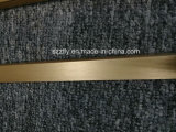 6063t5 Profil d'extrusion d'aulium anodisé brossé pour meubles