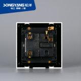 Interruttore bianco della parete di serie 1gang+1socket dell'interruttore elettrico