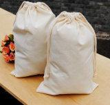 Doppelter Methode Drwastring Baumwollschmucksache-Beutel-Segeltuch-Beutel für Nahrung