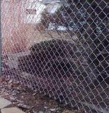 PVC上塗を施してあるチェーン・リンクの網、ダイヤモンドの網の塀のパネル