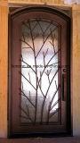 رفاهية حديد أبواب وحيدة مع زجاج قابل للفتح