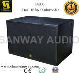 S8006 Dubbele 18 Duim 2500 Watts Aangedreven PROAudio Subwoofer