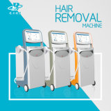 No Channel Maneja Remoción vertical 808nm diodo láser cabello máquina de la belleza