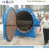 Tipo planta especial del tubo de la eficacia alta de 20 Tpd de la pirolisis del neumático con la puerta muy abierta