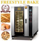 10 Tellersegment-Gas-Konvektion-Ofen für Backen-Nahrungsmittel mit CER Bescheinigung (ALB-10Q)