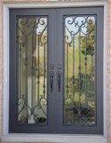 فولاذ حديد باب مع قصبة زجاج
