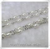 6*4mmのガラス模造真珠のビードの数珠、シェルのセンターピースの数珠(IOcr370)