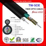 24 de base Sm Blindé extérieure aérienne d'auto-support fibre optique Câble GYXTW
