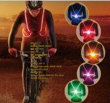 Gilet r3fléchissant de sport d'éclairage de bande de DEL pour la sûreté de recyclage