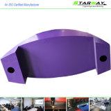 カスタム紫色の粉の上塗を施してある高品質のシート・メタルの製造