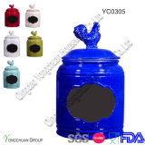 Colorful Lid와 Blackboard를 가진 세라믹 Canister