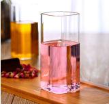 Glace carrée en verre de boissons de cuvette de lait de résistance thermique