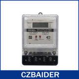 Base di plastica di watt di potere di energia del tester elettronico monofase di tensione (DDS1652b)