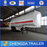 De China 3 del árbol 42m3 del tanque del petrolero acoplado de gasolina y aceite semi