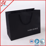 Мешки черных выдвиженческих ювелирных изделий бумажные с логосом и печатание