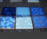 Mattonelle ondulate della piscina di stile del forno blu