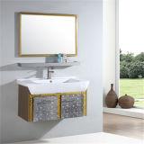 新しいデザイン棚が付いている壁に取り付けられた浴室用キャビネット