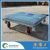 Folable zusammenklappbarer Metalldraht-Ineinander greifen-Kasten-Speicher-Rahmen mit Truckle