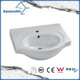 Semi-Утопленная руки тазика шкафа ванной комнаты раковина керамической моя (ACB4460)