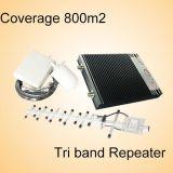 Tri DCS 3G 900 da faixa GSM/UMTS/Lte 1800 2100 impulsionadores do sinal do telefone móvel