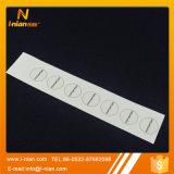 투명한 의류 레이블을 인쇄하는 관례