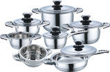 高品質12PCS Stainless Steel Cookware Set (CS112001)
