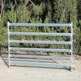 2.1m 6 panneaux ovales de yard de bétail des longerons 70*40/50*50mm