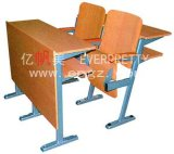 École Furniture Wooden College Step Chair avec Desk