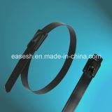 Sfera-Chiusura delle fascette ferma-cavo a chiave Pieno-Rivestite dell'acciaio inossidabile con l'UL