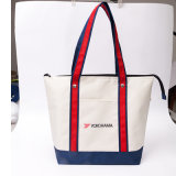 Fabricant Custom Holder Plus de 30kgs Silkscreen1-4color Printing Client Logo Duck Yellow Canvas Cotton Shopping Bag