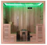 Le double côté de Monalisa pose le Module en bois de sauna de cèdre de personnes du type 4 (M-6043)
