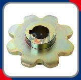 Rodas dentadas industriais do chapeamento de cobre para a corrente dobro do passo