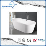 Vasca da bagno acrilica indipendente ovale della stanza da bagno (AB1509W)
