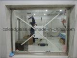 Raio X da proteção de radiação que protege o vidro chumbado
