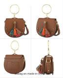 新しい方法PUのふさの金属のOリングが付いている小型学生かばん袋のサドルのハンドバッグ
