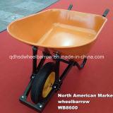 北アメリカの市場の新しい庭の手押し車の一輪車(WB8600)