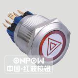 Onpow 누름단추식 전쟁 스위치 (주문을 받아서 만들어진 제품 전시)