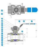 2PC Kogelklep met Direct het Opzetten van ISO Stootkussen 1000wog (het Type van M3)