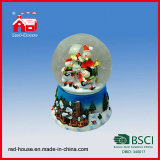 크리스마스 Snow Globe 95mm Water Globe 3D Beautiful Scene Basement