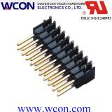2.54mm 단 하나 줄에 의하여 선정되는 금 도금 - 90 ° 복각 Pin 머리말