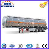 3 as 45cbm van de Diesel van de Legering van het Aluminium de Semi Aanhangwagen van de Olietanker van de Benzine Brandstof van de Benzine Met Silo 5
