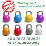 Het schilderen St14 Holle Concurrentie Kettlebell van het Staal met Roestvrij Handvat