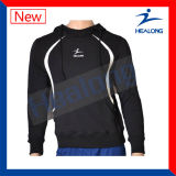 Healong cortou e Sew com logotipo Hoodie do bordado