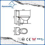 Toalete cerâmico de duas partes do Washdown (ACT6858)