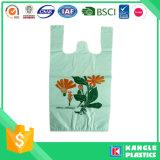 Bolso de compras plástico del supermercado de la camiseta del OEM