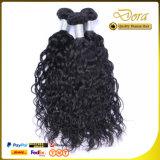 Trame noire normale de cheveux humains tissant la prolonge brésilienne de cheveu de Vierge