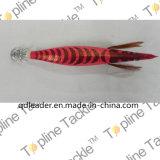 Gabarito de calamar da pesca com projeto colorido