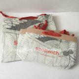 Ropa de las mujeres de la impresión de la insignia pila de discos las bolsas de papel del regalo de Brown Kraft