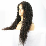 Peluca llena del cordón del cordón del frente de la peluca del cordón de la peluca de Glueless del pelo brasileño largo de la Virgen