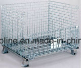 Stackable Folded Wire Mesh container/Metal Cage